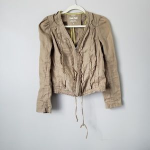 Anthropologie Hei Hei | 100% Linen Cargo Jacket